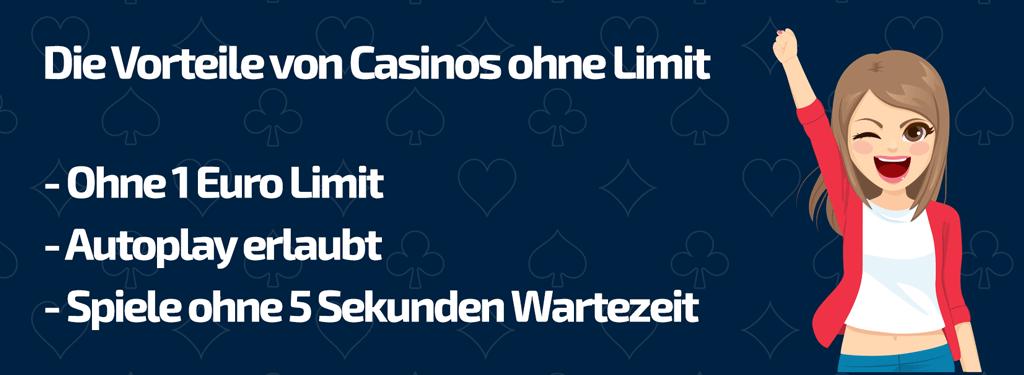 Die Vorteile von Top Casinos ohne Limit